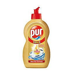 Detergent lichid Pur Gold Fresh pentru vase 450 ml